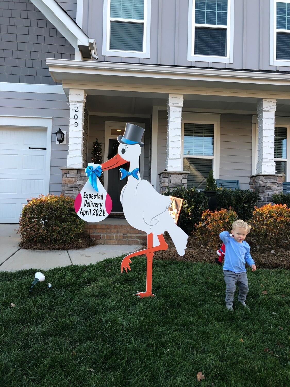 Celebration Stork Sign Rental