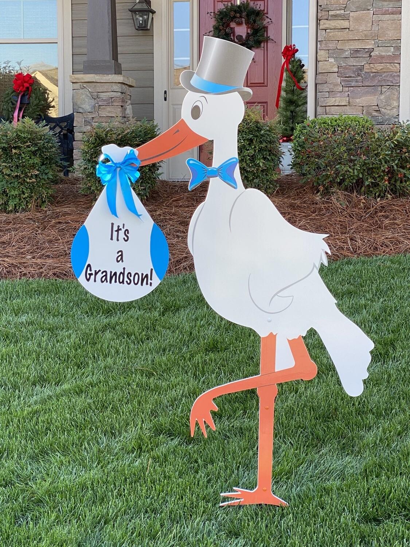 Grandparent Stork Sign Rental
