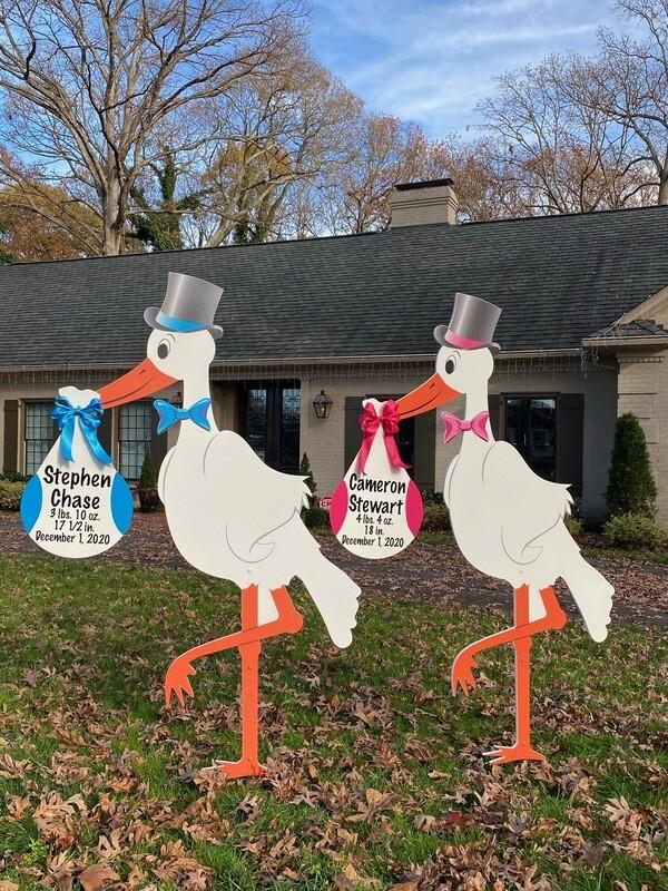 Twins Stork Signs Rental