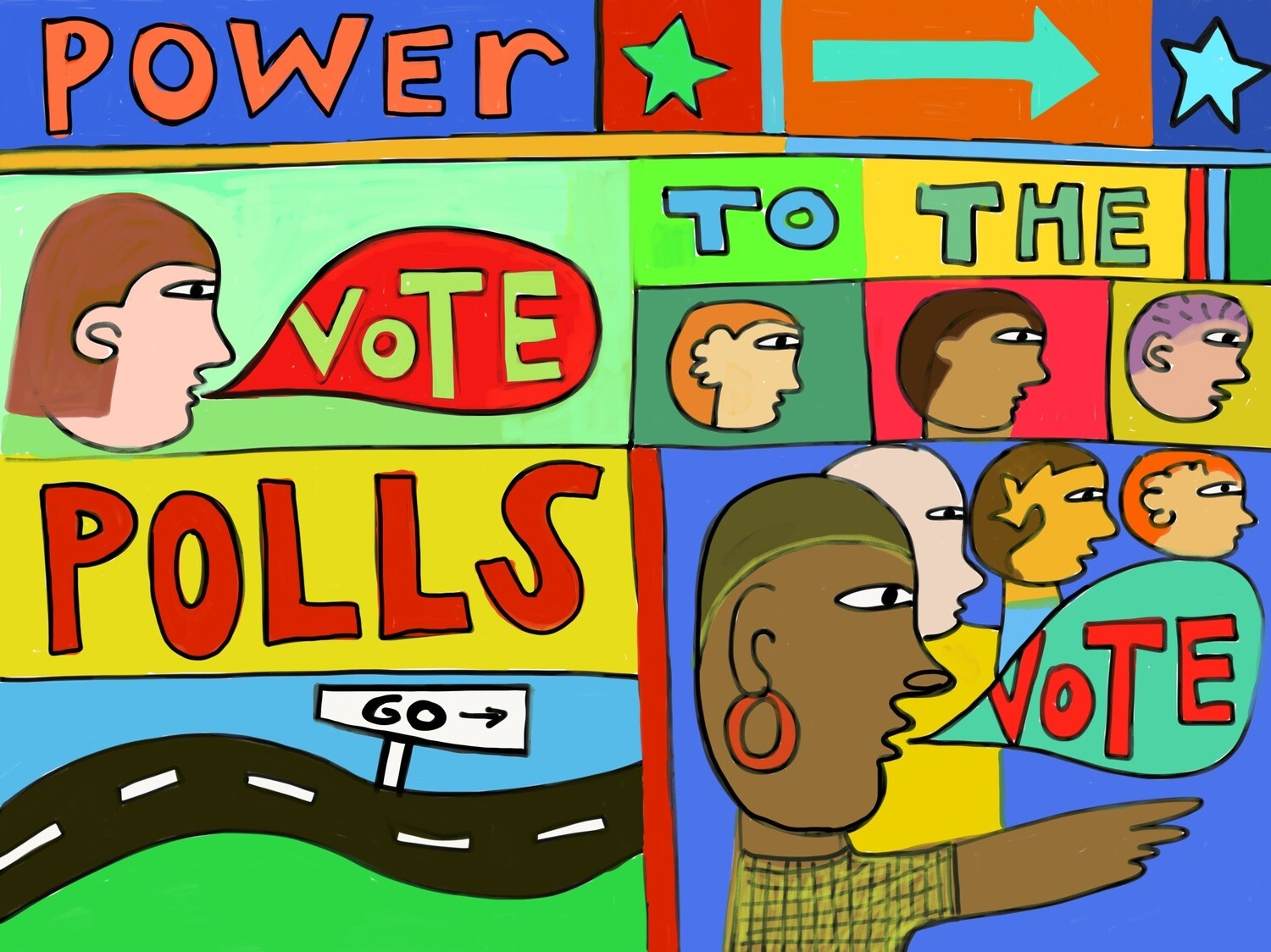 Power To The Polls Postcard