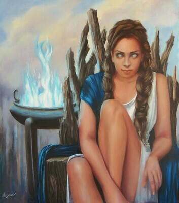 Oil Painting Titled Pythia Te Oracle