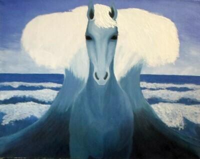 The Horse of sea god