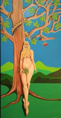 Oil Painting Titled Of course it's an apple tree