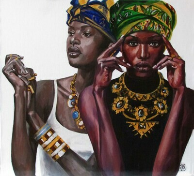 Oil Painting Titled TREASURES
