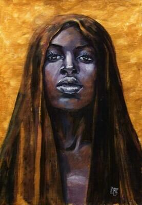 Oil painting Titled Desert Queen