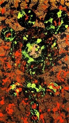 Acrylic on Plexiglas Painting Titled SEA WASP