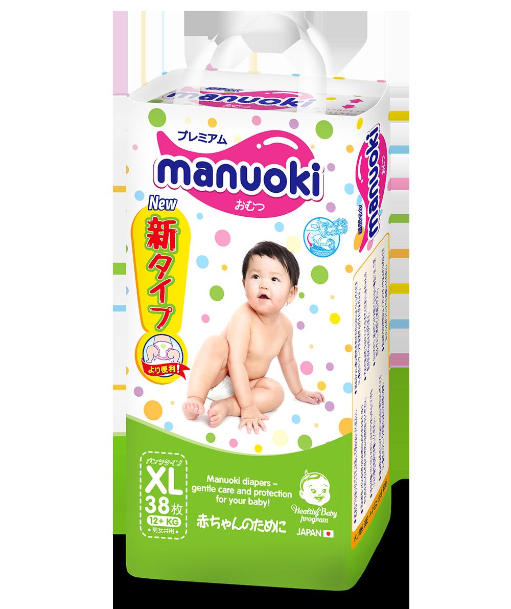 ТРУСИКИ-ПОДГУЗНИКИ MANUOKI XL38 (12+ кг)