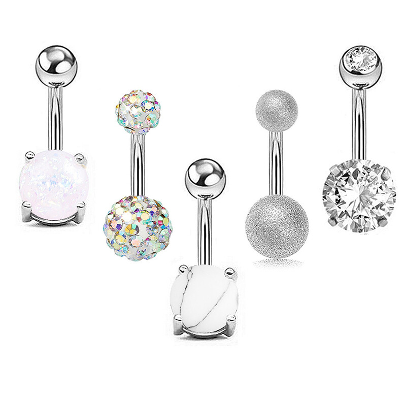 5 pcs/set Belly Navel Piercing Body Jewelry
