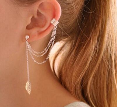 Tassel Earrings for Women Clip Fake Piercing