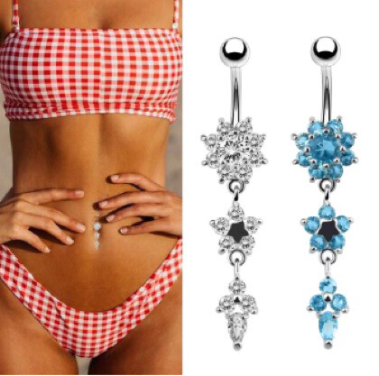 BELLY BUTTON RING 316L SURGICAL STAINLESS STEEL