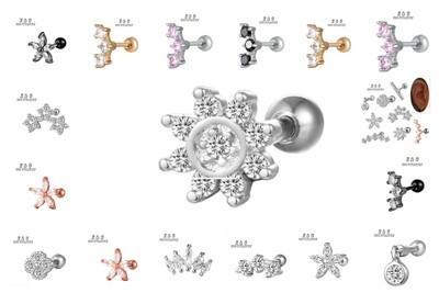 1PCS ANTI-HELIX /HELIX / CONCHA/ 16G /100% SURGICAL  TITANIUM EAR PIERCING