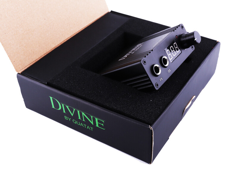 DIVINE COMPACT CP100 tattoo power supply BY QUATAT