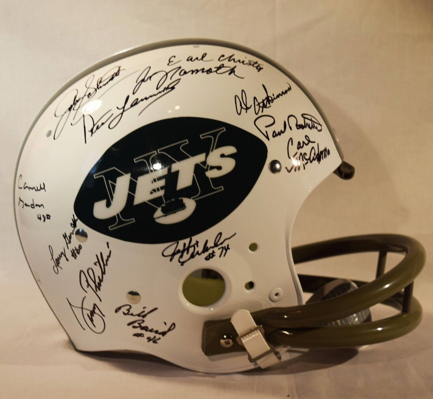 Super Bowl III New York Jets Signed Full Size Helemet - Steiner Authenticated