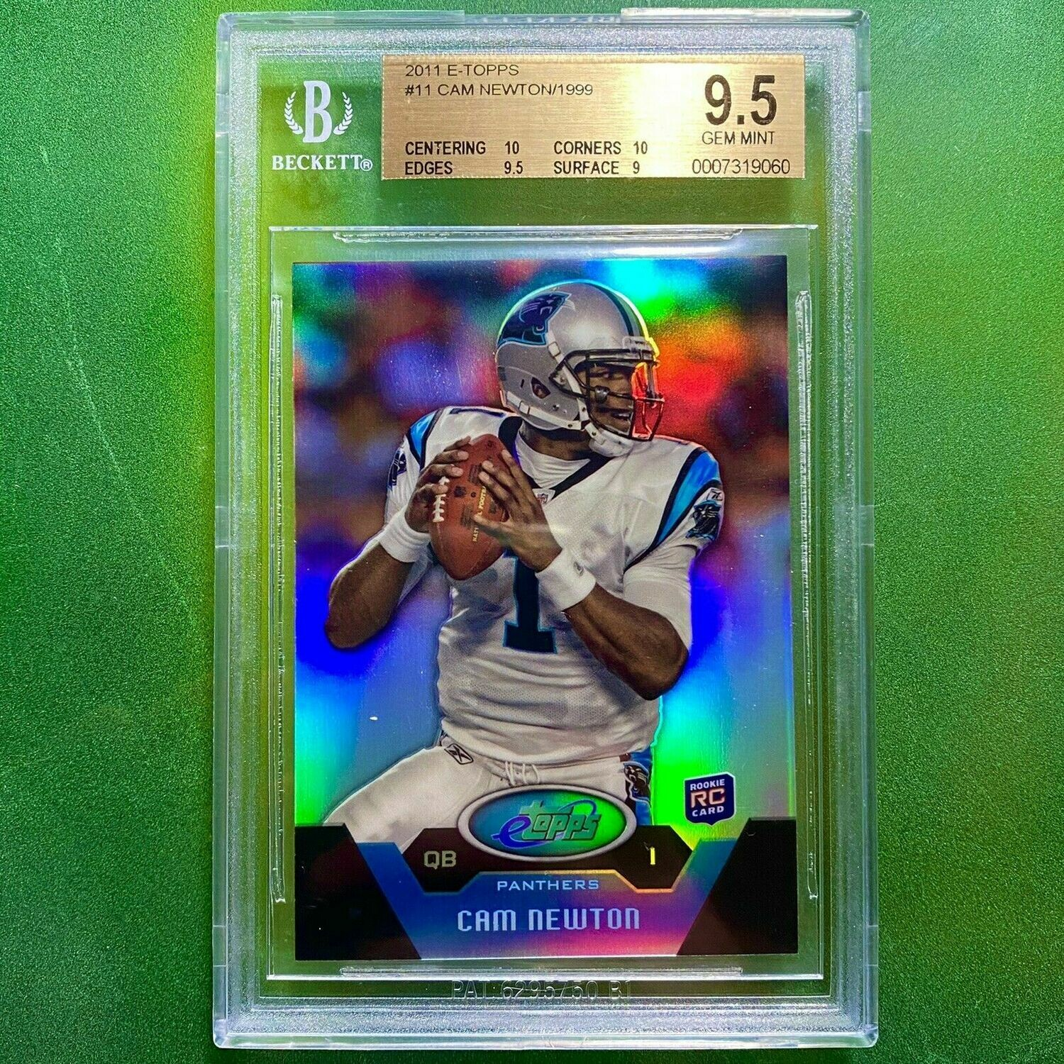 CAM NEWTON 2011 Topps Refractor Rookie | BGS 9.5 RC  0420/1999