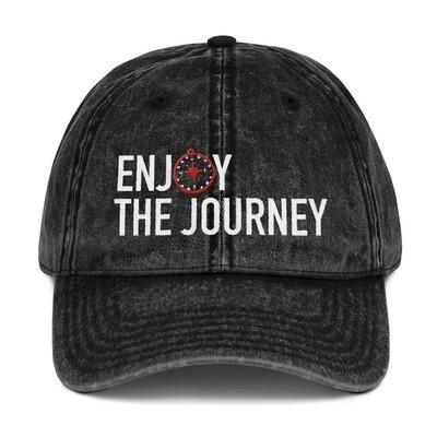 Enjoy The Journey Vintage Cotton Twill Cap