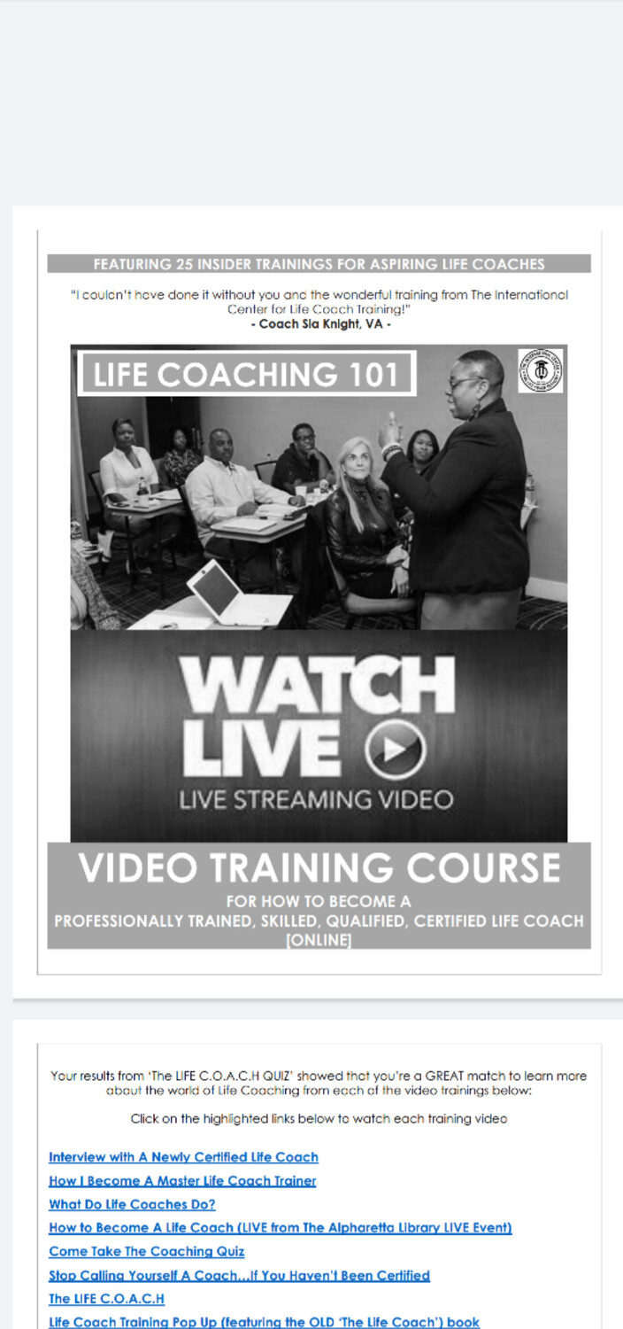 The Black LIFE C.O.A.C.H Ebook [Video] Trainings