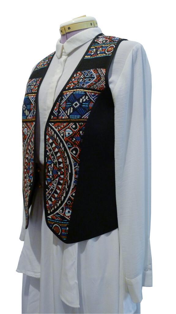 """YAKAYA Damen Weste """"Daya"""" mit einem schönem gewebten Ethno-Muster - jedes Teil ein Unikat - Ethno, Hippie, Boho - Style"""