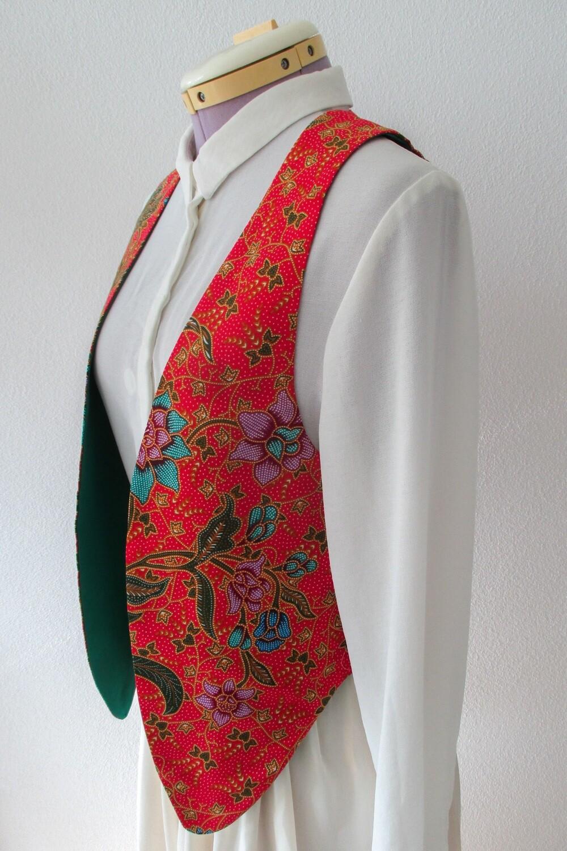 """YAKAYA Damen Weste """"Mira"""" mit einem schönem floralem Ethno-Muster - jedes Teil ein Unikat - Ethno, Hippie, Boho - Style"""