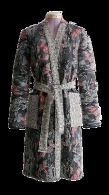 YAKAYA Japanisch gemusterter Kimono Mantel mit Taschen