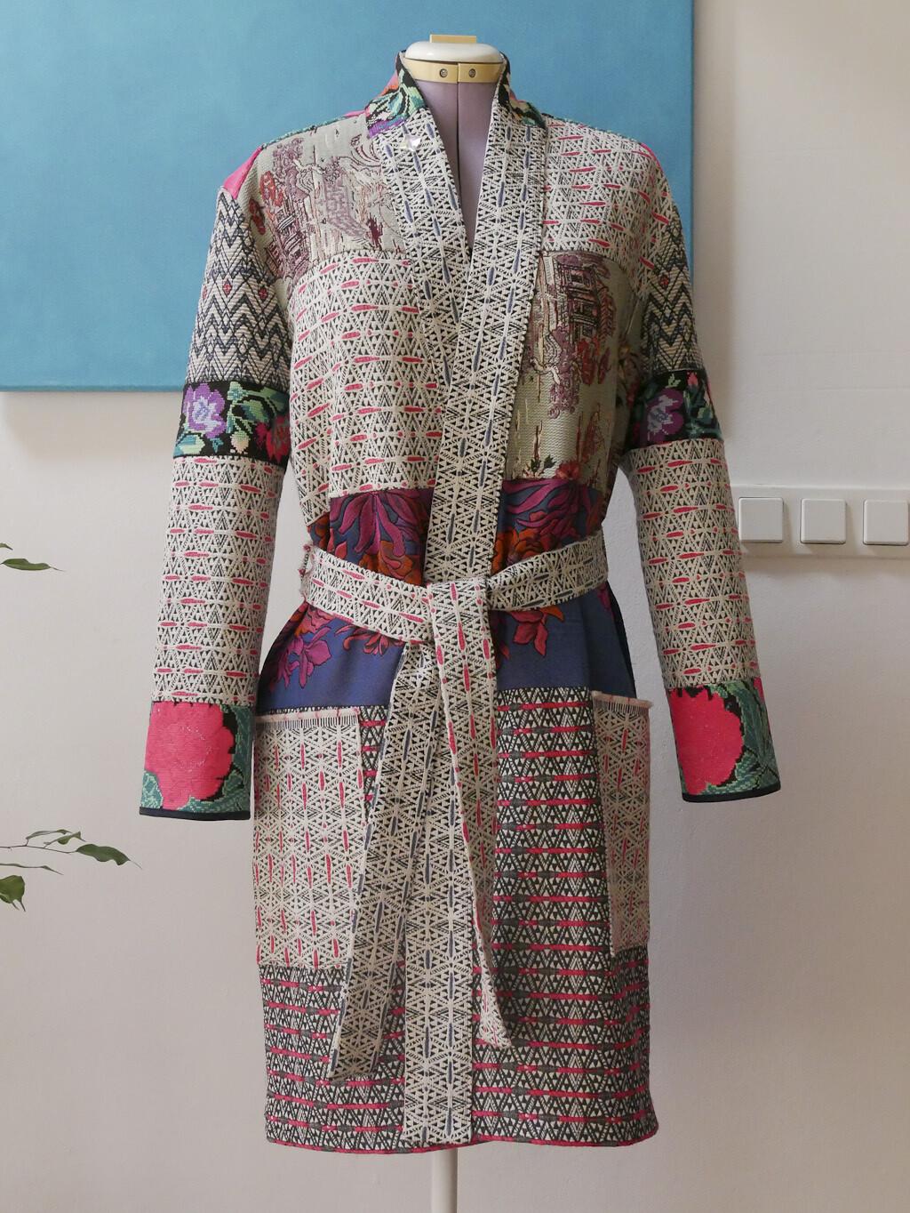 YAKAYA individueller Ethno Boho Patchwork Kimono Mantel (Einzelstück - Musterbeispiel)