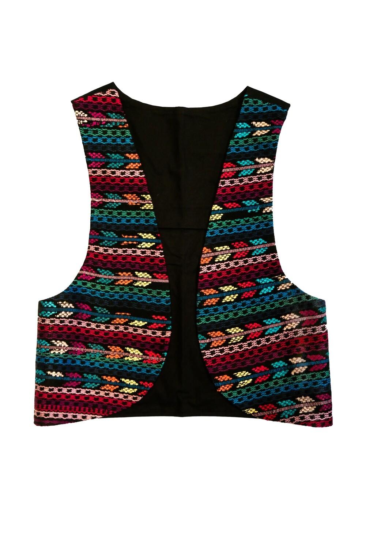"""YAKAYA Damen Weste """"Pujika"""" mit einem schönem handgewebten Guatemala Stoff - jedes Teil ein Unikat - Ethno, Hippie, Boho - Style"""