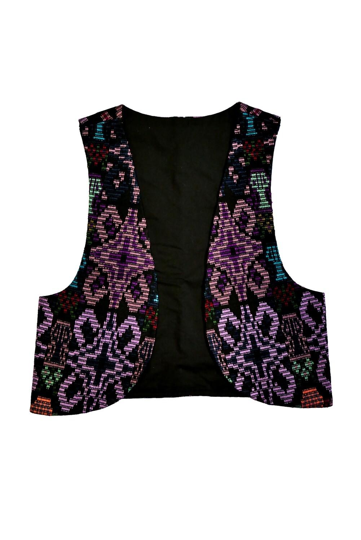 """YAKAYA Damen Weste """"Veda"""" mit einem schönem handgewebten Guatemala Stoff - jedes Teil ein Unikat - Ethno, Hippie, Boho - Style"""