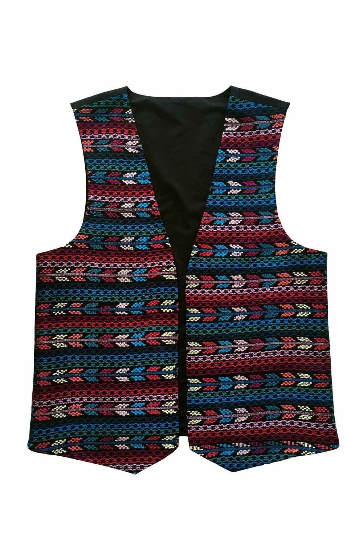 """YAKAYA Herren Weste """"Pujaka"""" mit guatemaltekischem Muster - jedes Teil ein Unikat - Ethno, Hippie, Boho - Style"""