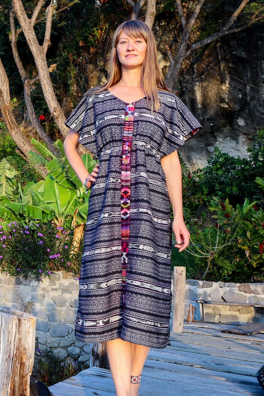 "YAKAYA Designer Kleid ""Svetlana"" Ethnic Dress Ikat Boho"