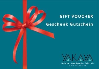 YAKAYA Geschenk Gutschein - Gift Voucher
