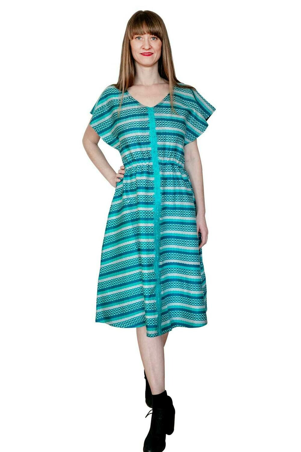"YAKAYA Designer Kleid ""Indra"" Ethnic Dress Ikat Boho"