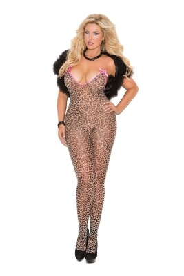 Animal Print Body Stocking