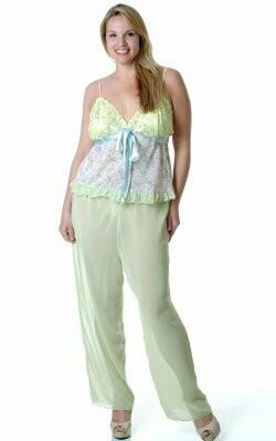 Chiffon Camisole Pajama Set
