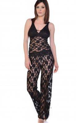 Stretch Lace Camisole PJ Set