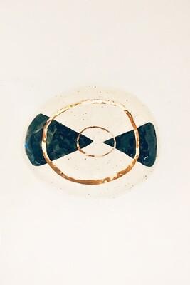 Geometric golden ring platter