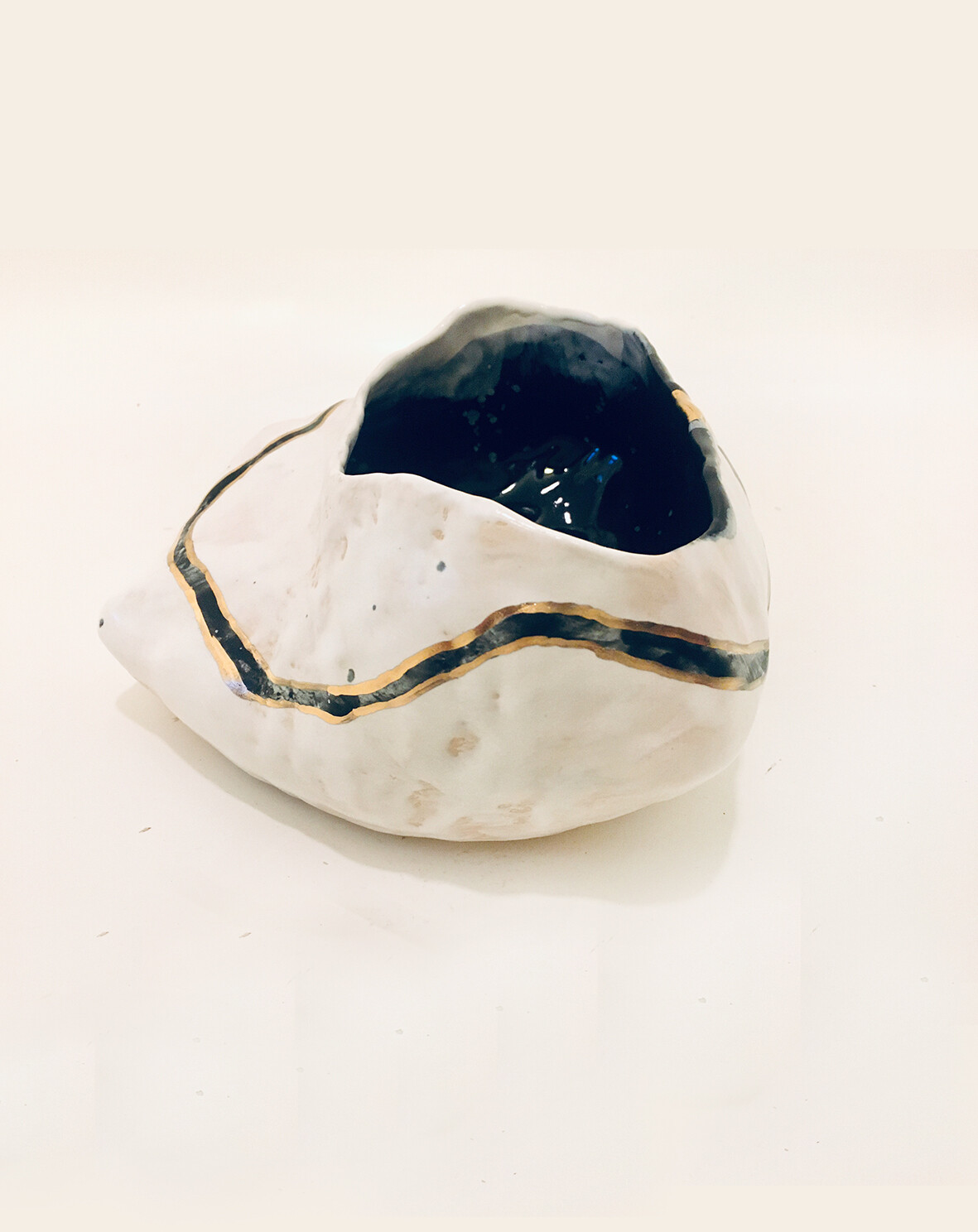 Black and White+ Gold Bowl