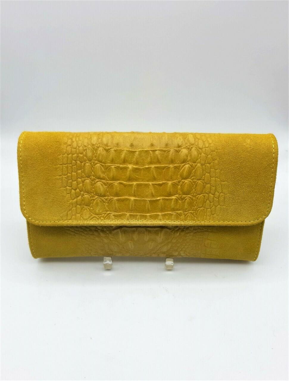 Sac / Pochette en cuir effet crocodile