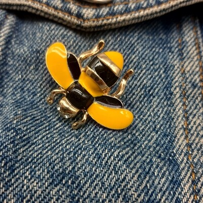 Pin's email abeille et strass
