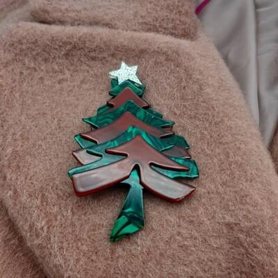 Grand sapin de Noël en acétate
