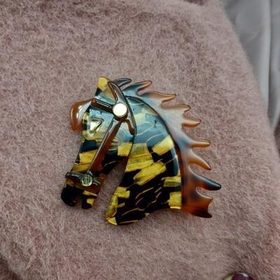 Broche repro acetate cheval