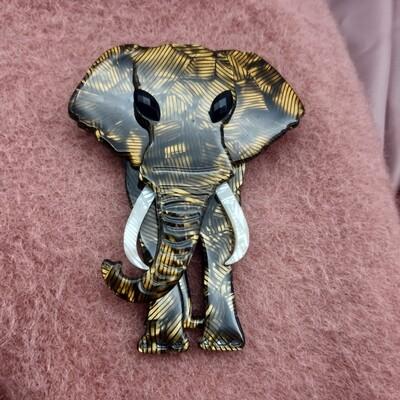 Broche #oversized repro éléphant acétate