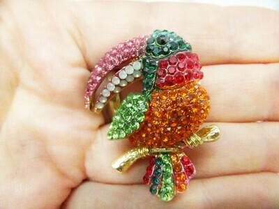 Broche sertie Toucan 3 coloris