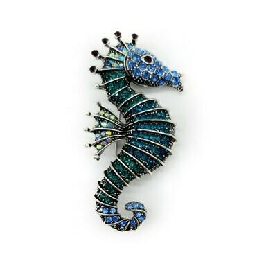 Broche hippocampe qui fait pendentif