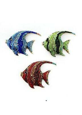 Broche poisson exotique bicolore