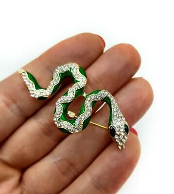 Serpent émail et strass