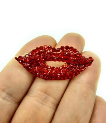 Bouche lips en strass