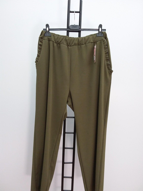 ART111 MODA ITALIA - Pantalone con tasche  Verde