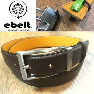 ebelt 男裝高級頭層牛皮皮帶 3cm Top Grade Cow Full Grain Leather Belt - ebm0154BRN
