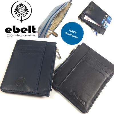 ebelt 印度製 頭層植楺皮拉鍊卡片銀包 Full Grain Vegetable Tanned Leather Zipper Card Holder Wallet - WM0126