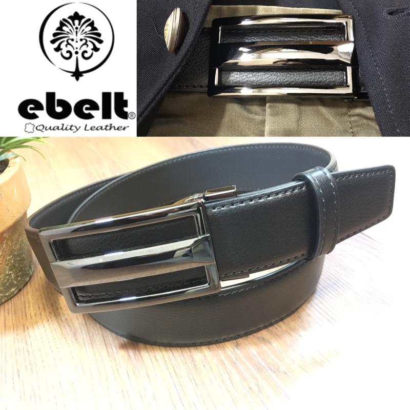 [香港品牌 EBELT] 光面牛皮皮帶 / 正裝皮帶 Cow Split Leather Dress Belt 3.3 cm - ETV103