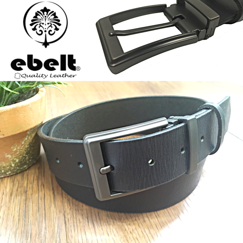 [香港品牌 EBELT] 印度製 頭層水牛皮真皮皮帶 BUFFALO FULL GRAIN LEATHER BELT 3.4cm- ebc0321